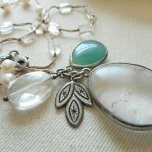 Silpada Silver Pearl Quartzite Crystal, Necklace
